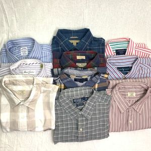 Button down shirts Mens size XL lot of 10
